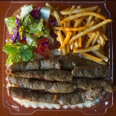 Kabobs Fries Salad